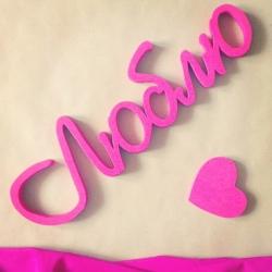 Буквы и слова с покраской